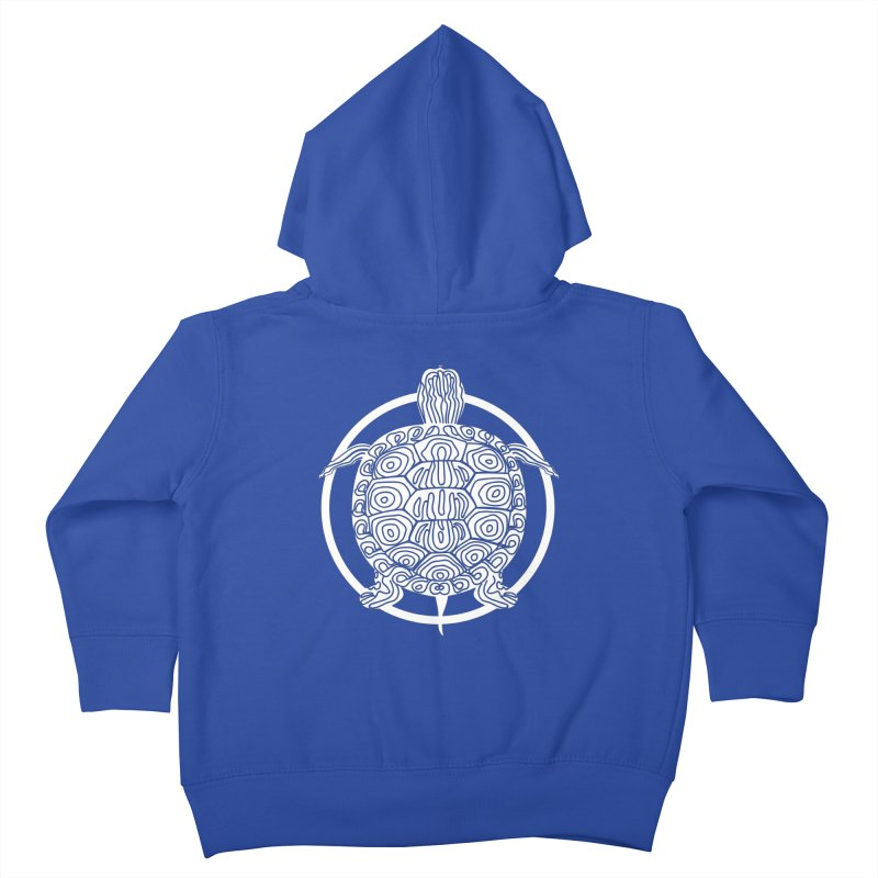 White Turtle - Circle Collection Kids Toddler Zip-Up Hoody by buxmontweb's Artist Shop