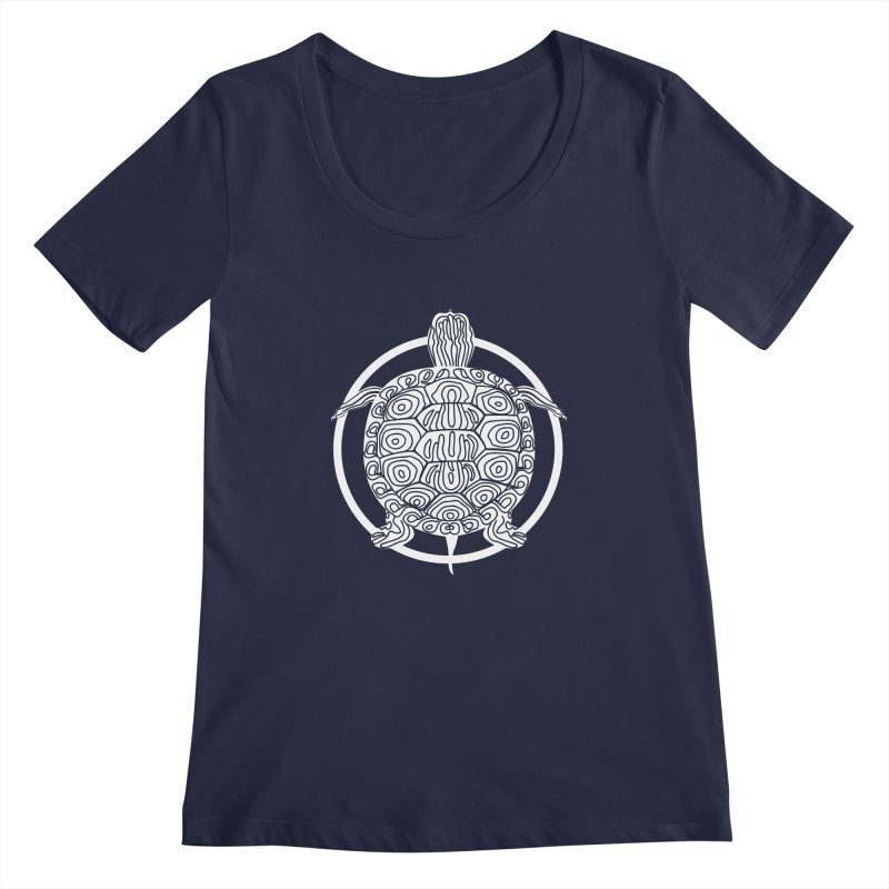 White Turtle - Circle Collection Women's Regular Scoop Neck by buxmontweb's Artist Shop