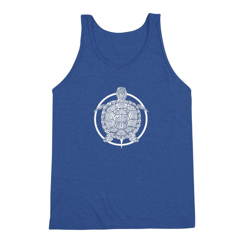 White Turtle - Circle Collection Men's Triblend Tank by buxmontweb's Artist Shop