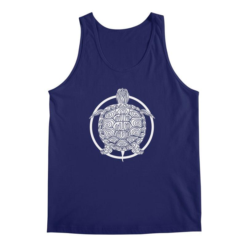 White Turtle - Circle Collection Men's Regular Tank by buxmontweb's Artist Shop
