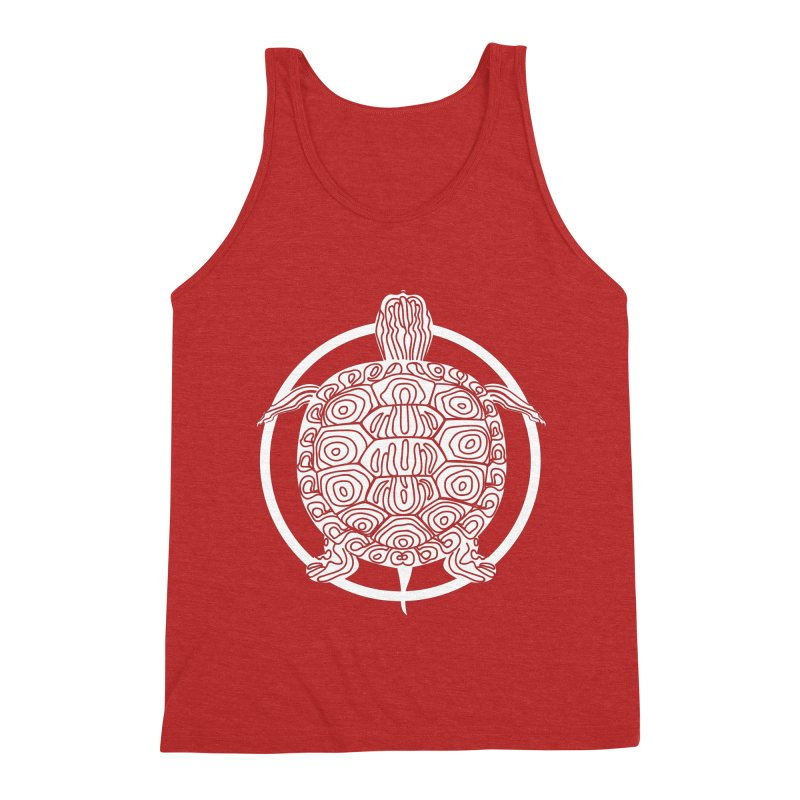 White Turtle - Circle Collection Men's Triblend Tank by buxmontweb's Artist Shop