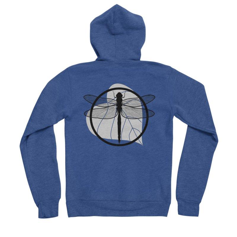 Dragonfly - Circle Collection Men's Sponge Fleece Zip-Up Hoody by buxmontweb's Artist Shop