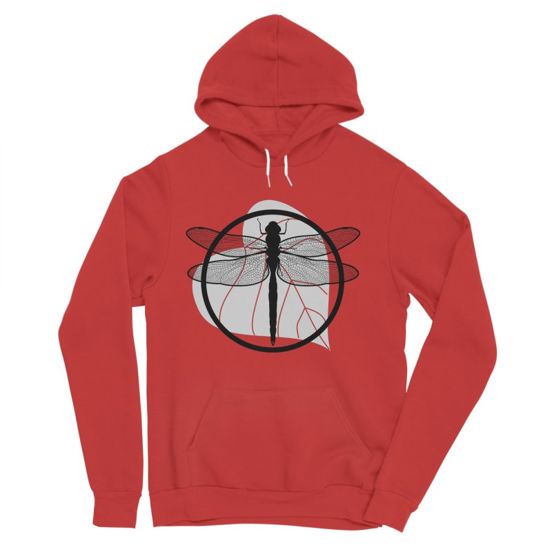 Dragonfly - Circle Collection Men's Sponge Fleece Pullover Hoody by buxmontweb's Artist Shop