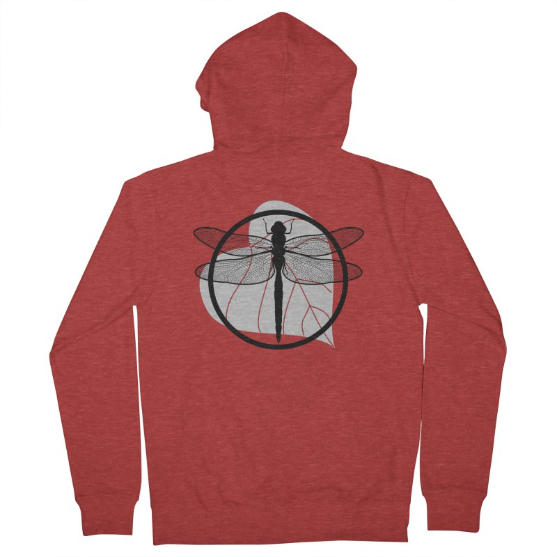 Dragonfly - Circle Collection Women's French Terry Zip-Up Hoody by buxmontweb's Artist Shop