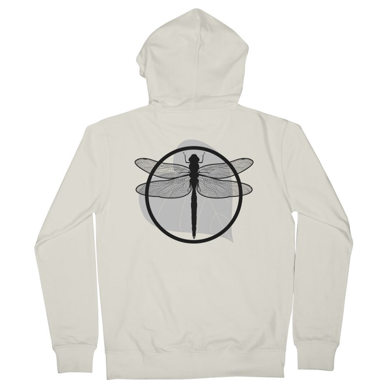 Dragonfly - Circle Collection Men's French Terry Zip-Up Hoody by buxmontweb's Artist Shop