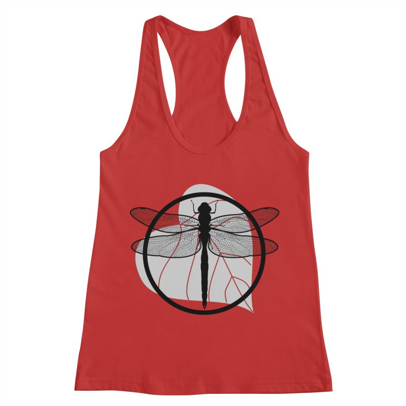 Dragonfly - Circle Collection Women's Racerback Tank by buxmontweb's Artist Shop