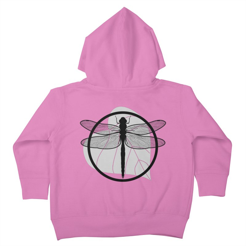 Dragonfly - Circle Collection Kids Toddler Zip-Up Hoody by buxmontweb's Artist Shop