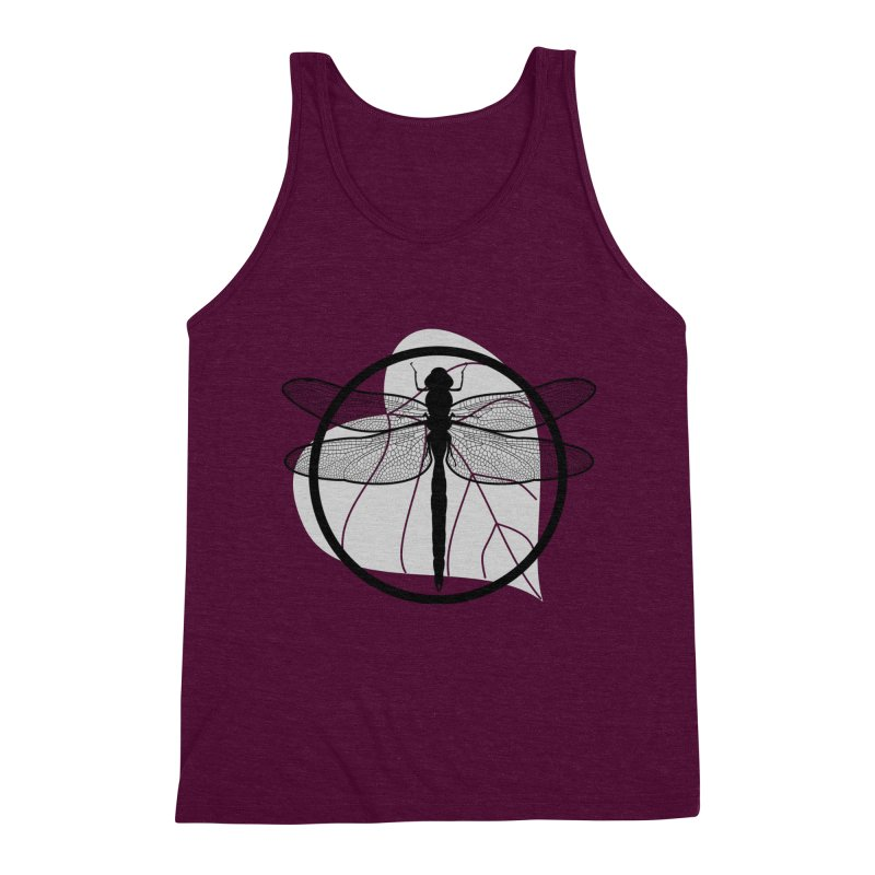 Dragonfly - Circle Collection Men's Triblend Tank by buxmontweb's Artist Shop
