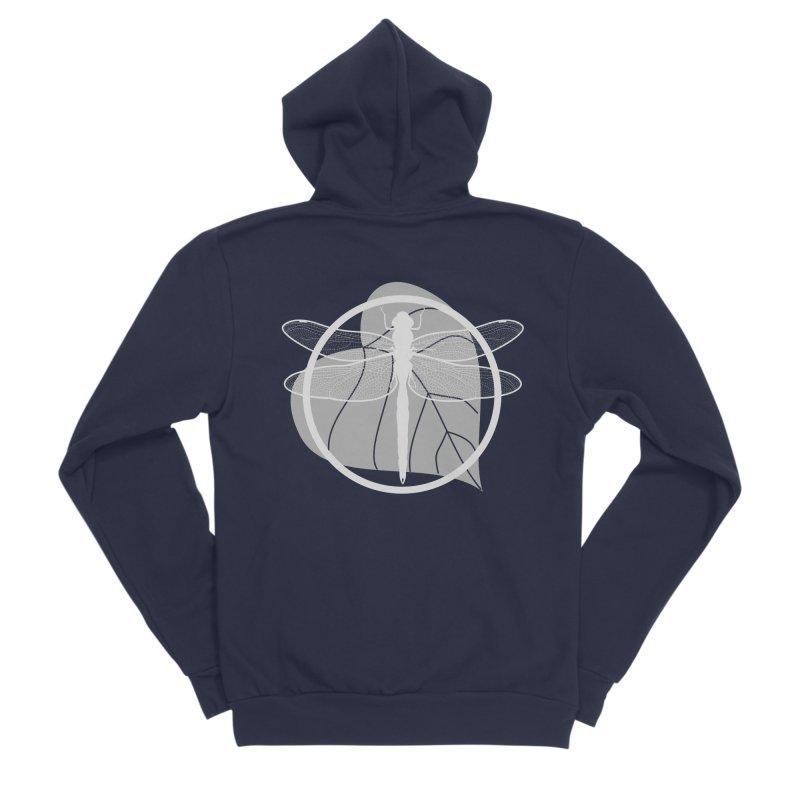Dragonfly (Light) - Circle Collection Men's Sponge Fleece Zip-Up Hoody by buxmontweb's Artist Shop