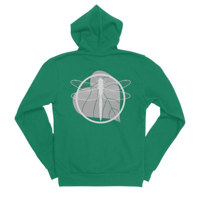 Dragonfly (Light) - Circle Collection Women's Sponge Fleece Zip-Up Hoody by buxmontweb's Artist Shop