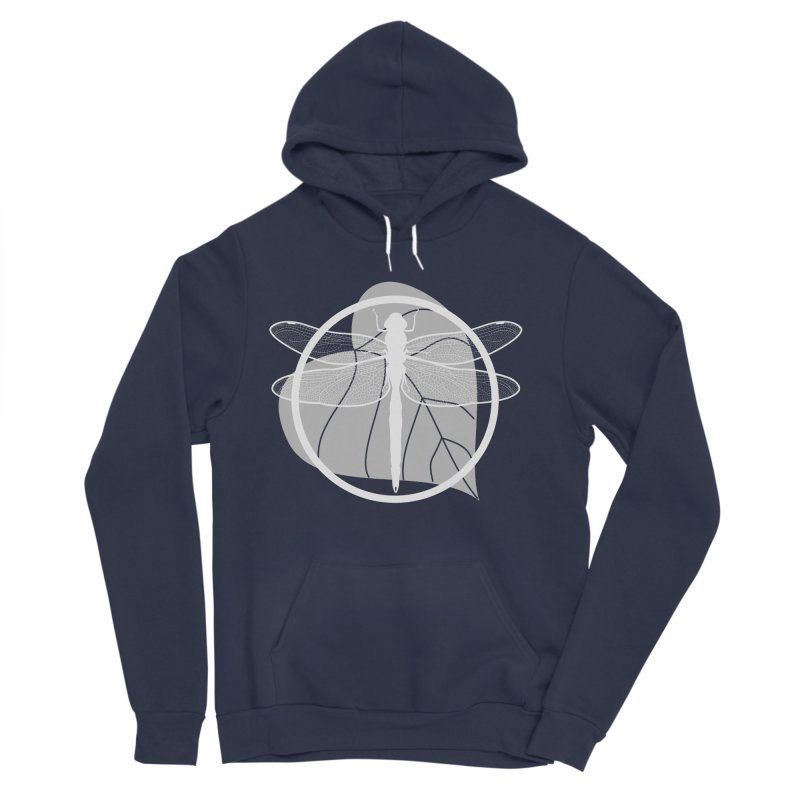 Dragonfly (Light) - Circle Collection Men's Sponge Fleece Pullover Hoody by buxmontweb's Artist Shop