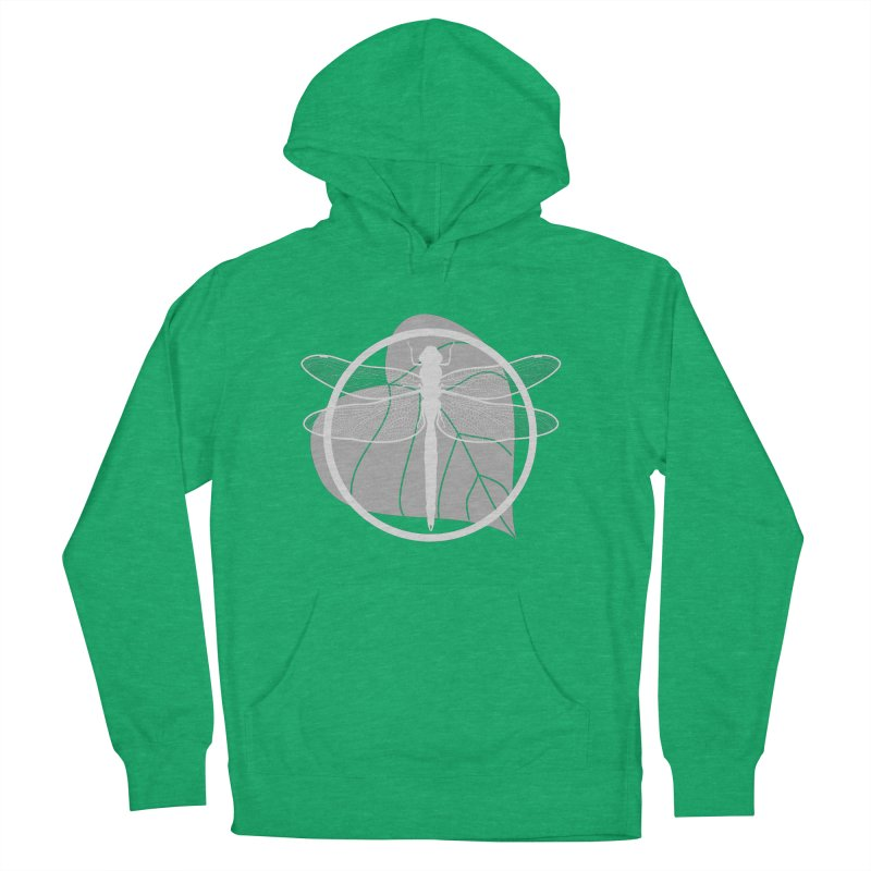 Dragonfly (Light) - Circle Collection Women's French Terry Pullover Hoody by buxmontweb's Artist Shop