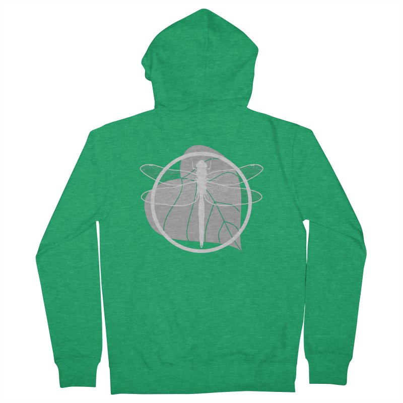 Dragonfly (Light) - Circle Collection Women's French Terry Zip-Up Hoody by buxmontweb's Artist Shop