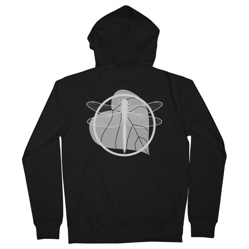 Dragonfly (Light) - Circle Collection Men's French Terry Zip-Up Hoody by buxmontweb's Artist Shop