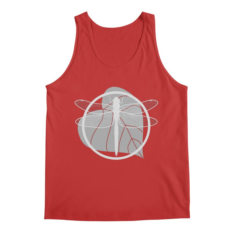 Dragonfly (Light) - Circle Collection Men's Regular Tank by buxmontweb's Artist Shop