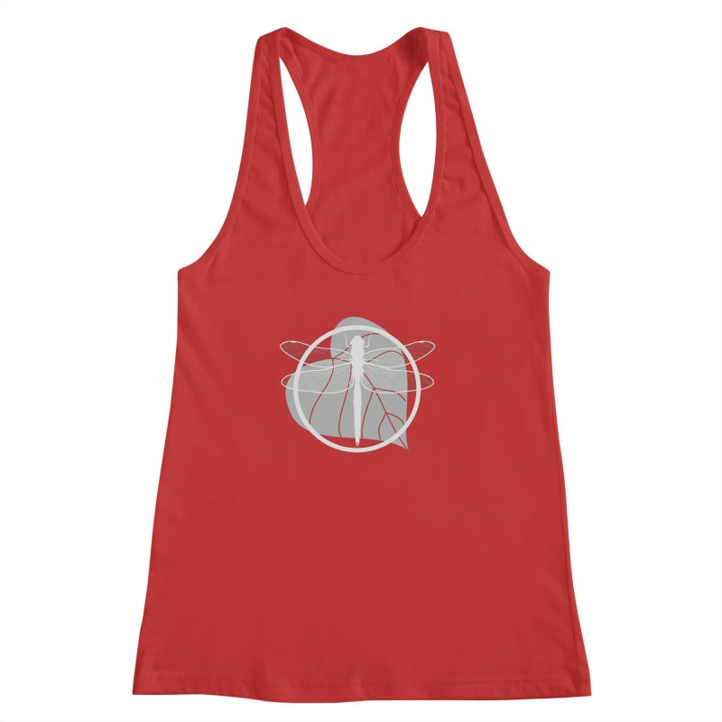 Dragonfly (Light) - Circle Collection Women's Racerback Tank by buxmontweb's Artist Shop