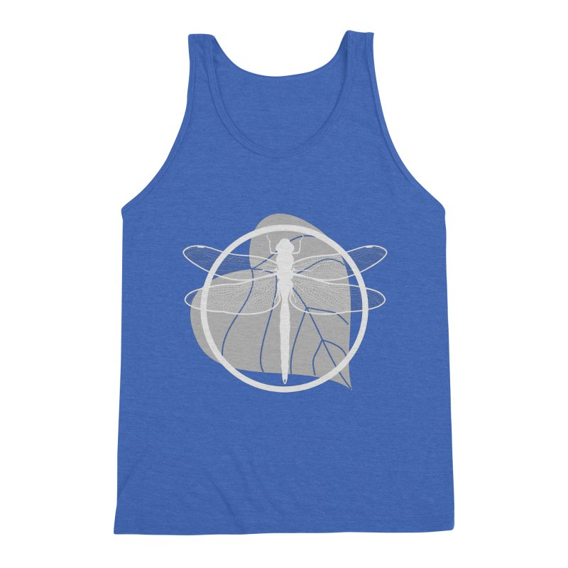 Dragonfly (Light) - Circle Collection Men's Triblend Tank by buxmontweb's Artist Shop