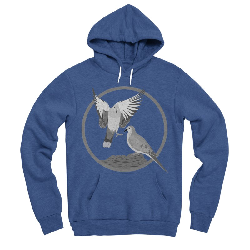 Mourning Doves (Light) - Circle Collection Men's Sponge Fleece Pullover Hoody by buxmontweb's Artist Shop