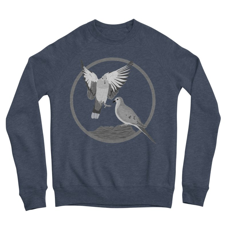 Mourning Doves (Light) - Circle Collection Men's Sponge Fleece Sweatshirt by buxmontweb's Artist Shop