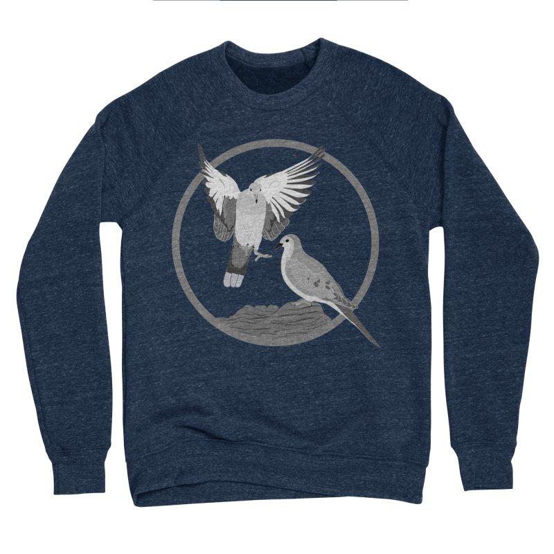 Mourning Doves (Light) - Circle Collection Men's Sponge Fleece Sweatshirt by buxmontweb's Artist Shop
