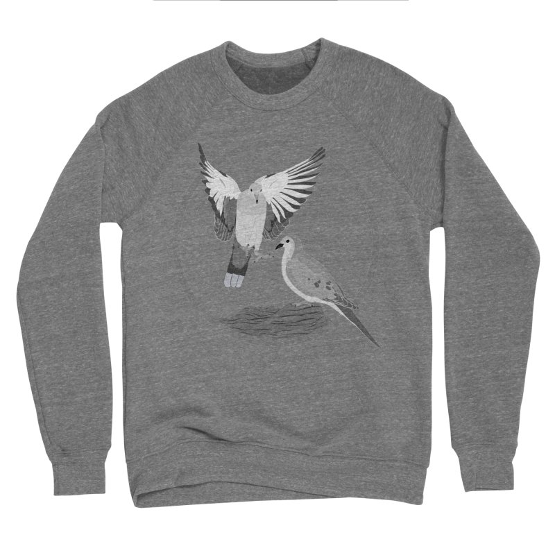 Mourning Doves (Light) - Circle Collection Women's Sponge Fleece Sweatshirt by buxmontweb's Artist Shop