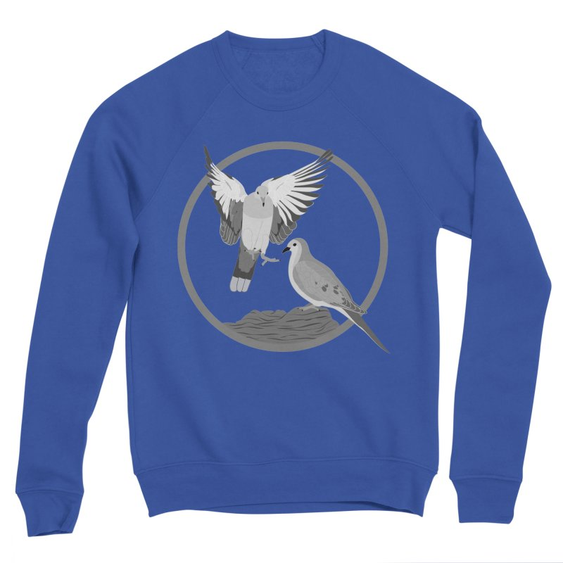 Mourning Doves (Light) - Circle Collection Men's Sweatshirt by buxmontweb's Artist Shop