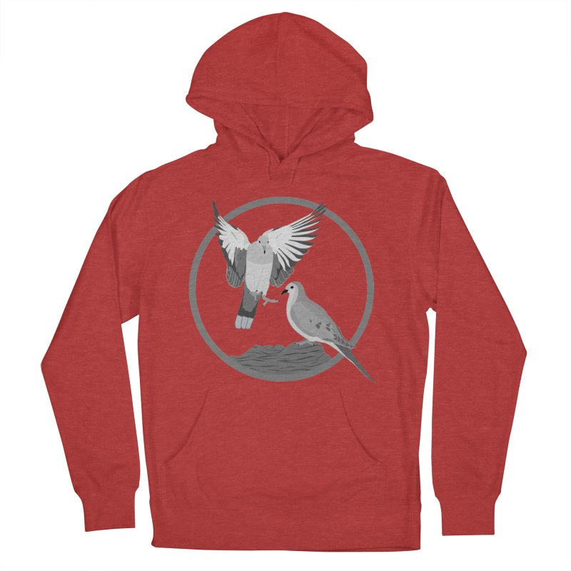 Mourning Doves (Light) - Circle Collection Women's French Terry Pullover Hoody by buxmontweb's Artist Shop