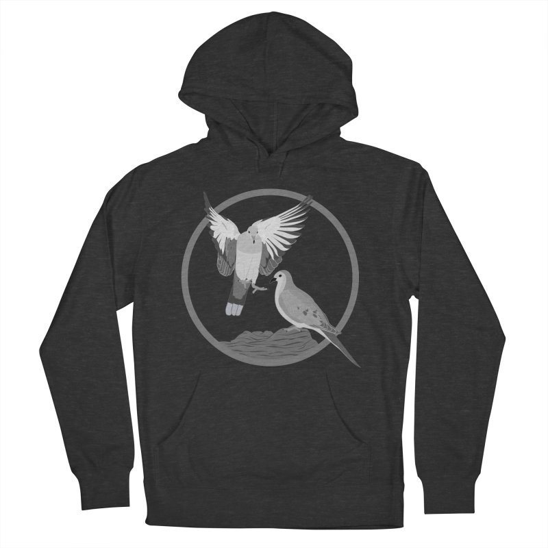Mourning Doves (Light) - Circle Collection Men's French Terry Pullover Hoody by buxmontweb's Artist Shop