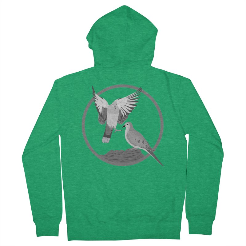 Mourning Doves (Light) - Circle Collection Women's French Terry Zip-Up Hoody by buxmontweb's Artist Shop
