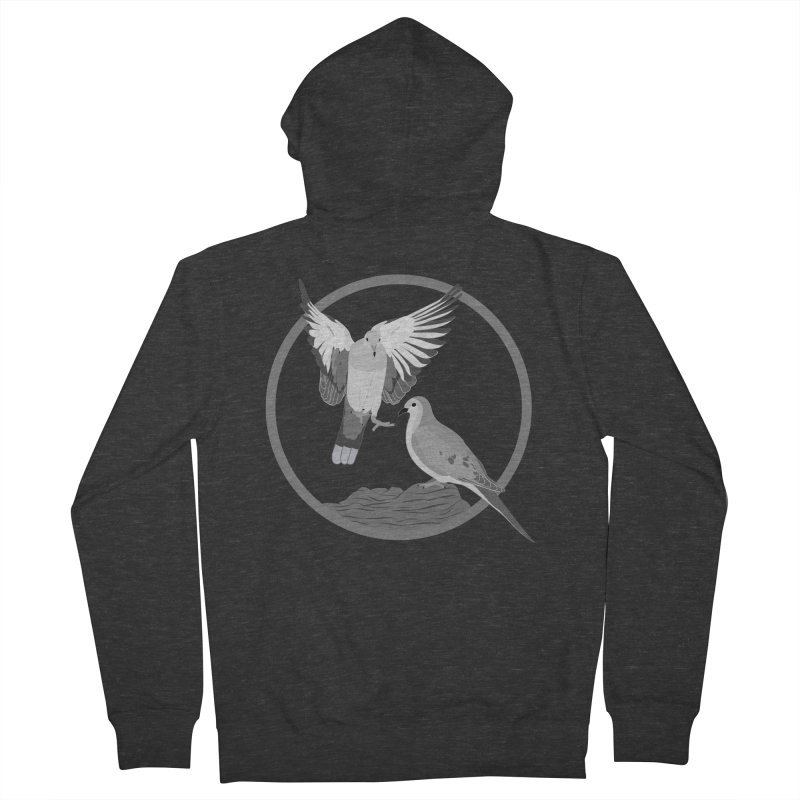 Mourning Doves (Light) - Circle Collection Men's French Terry Zip-Up Hoody by buxmontweb's Artist Shop