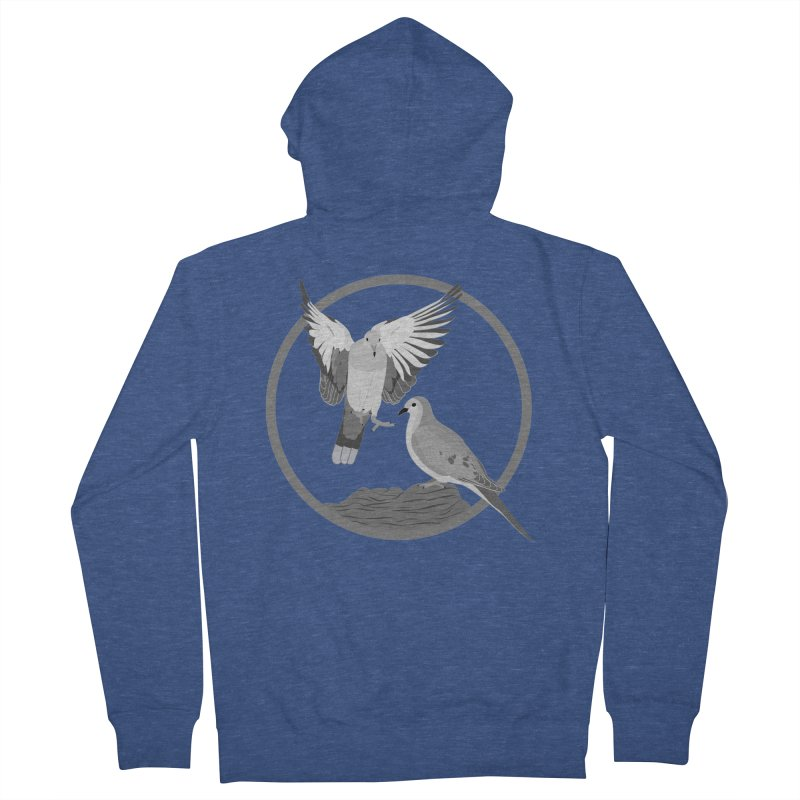 Mourning Doves (Light) - Circle Collection Men's Zip-Up Hoody by buxmontweb's Artist Shop