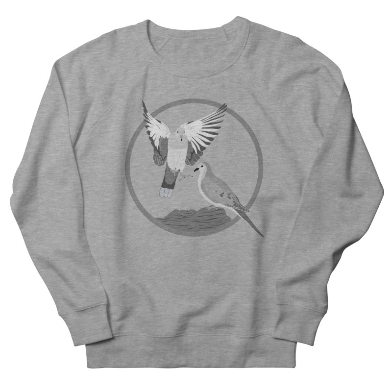 Mourning Doves (Light) - Circle Collection Women's French Terry Sweatshirt by buxmontweb's Artist Shop