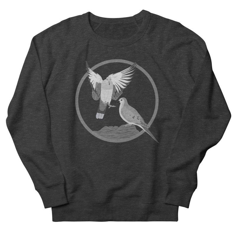 Mourning Doves (Light) - Circle Collection Men's French Terry Sweatshirt by buxmontweb's Artist Shop