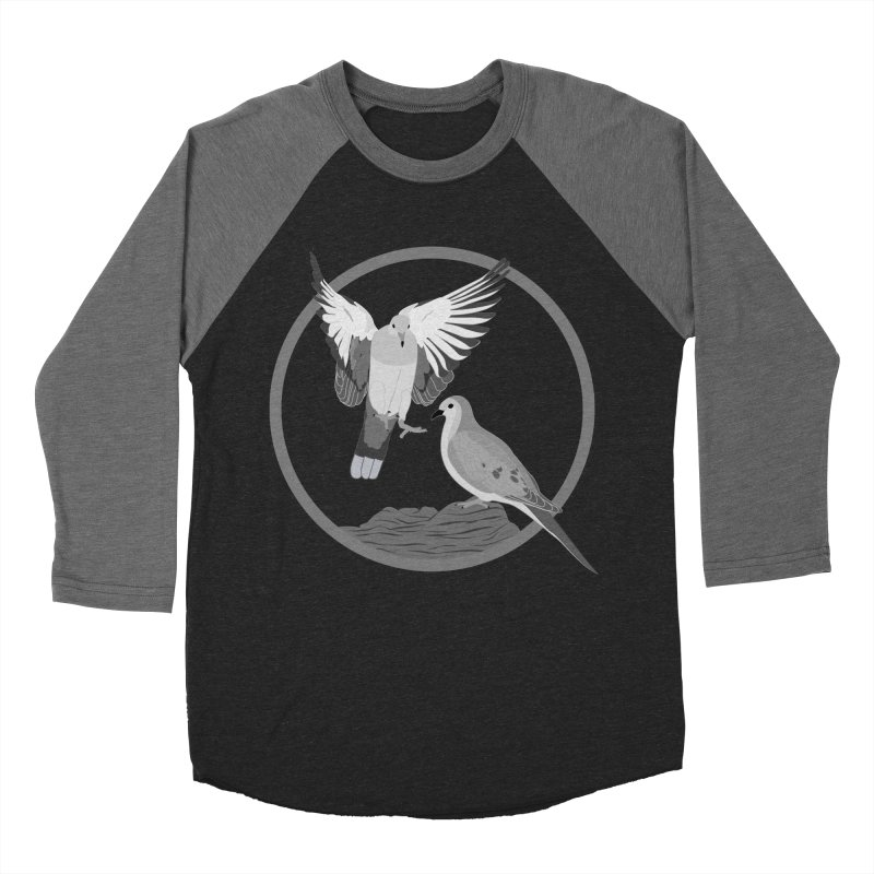 Mourning Doves (Light) - Circle Collection Women's Baseball Triblend Longsleeve T-Shirt by buxmontweb's Artist Shop