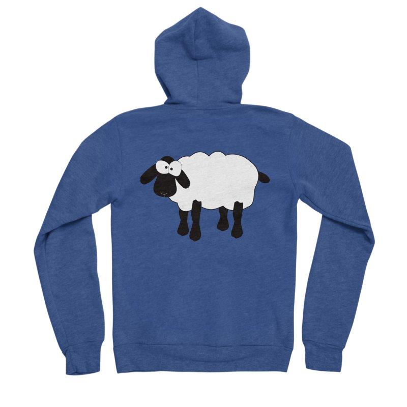 Funny Sheep Women's Sponge Fleece Zip-Up Hoody by buxmontweb's Artist Shop
