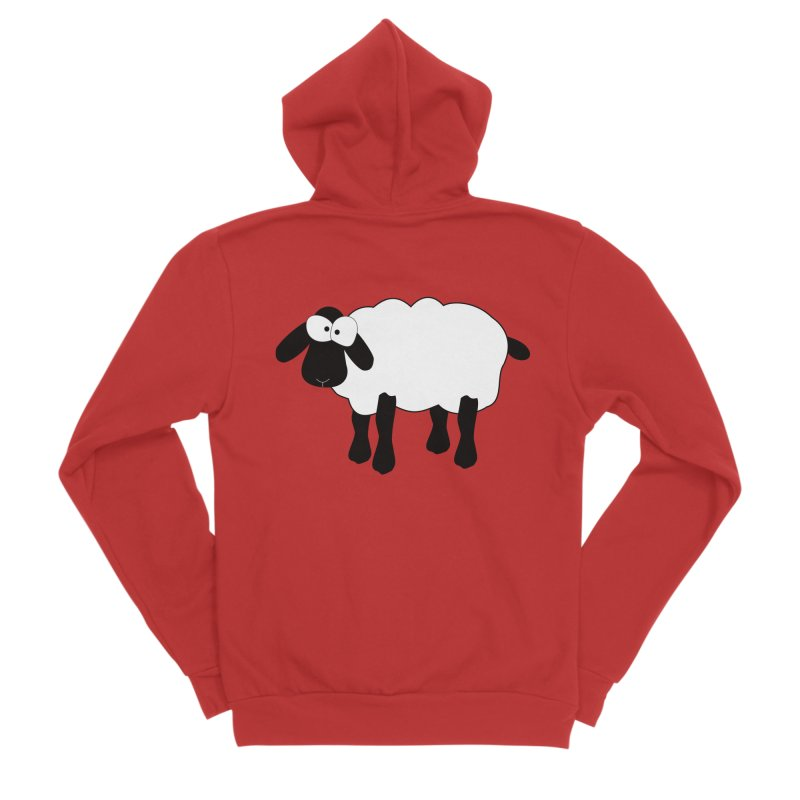 Funny Sheep Men's Sponge Fleece Zip-Up Hoody by buxmontweb's Artist Shop