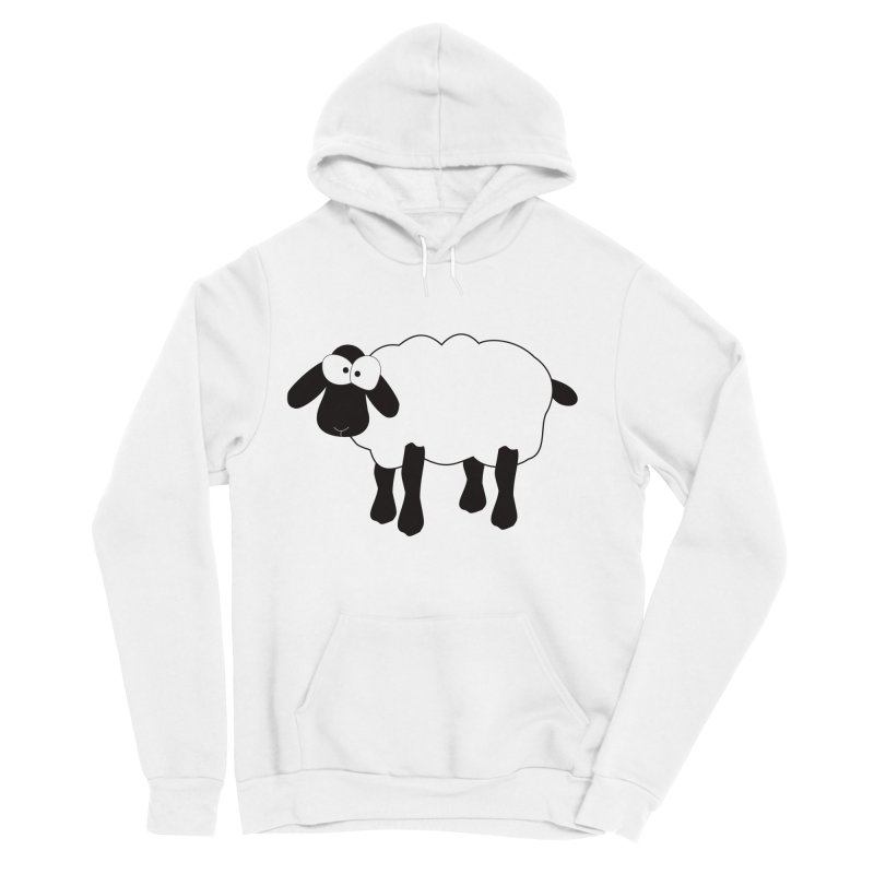 Funny Sheep Men's Sponge Fleece Pullover Hoody by buxmontweb's Artist Shop