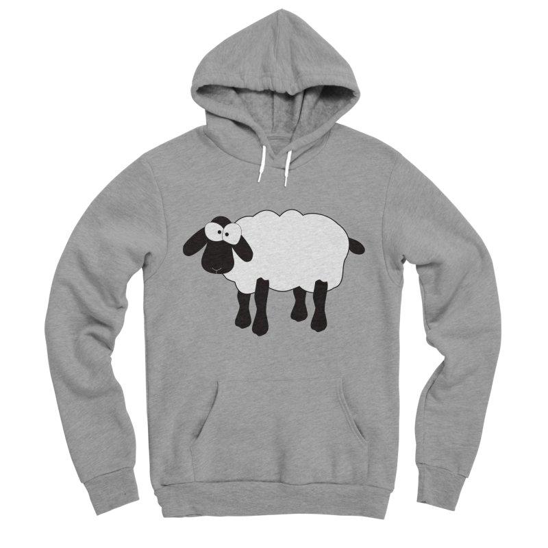 Funny Sheep Men's Sponge Fleece Pullover Hoody by buxmontweb's Artist Shop
