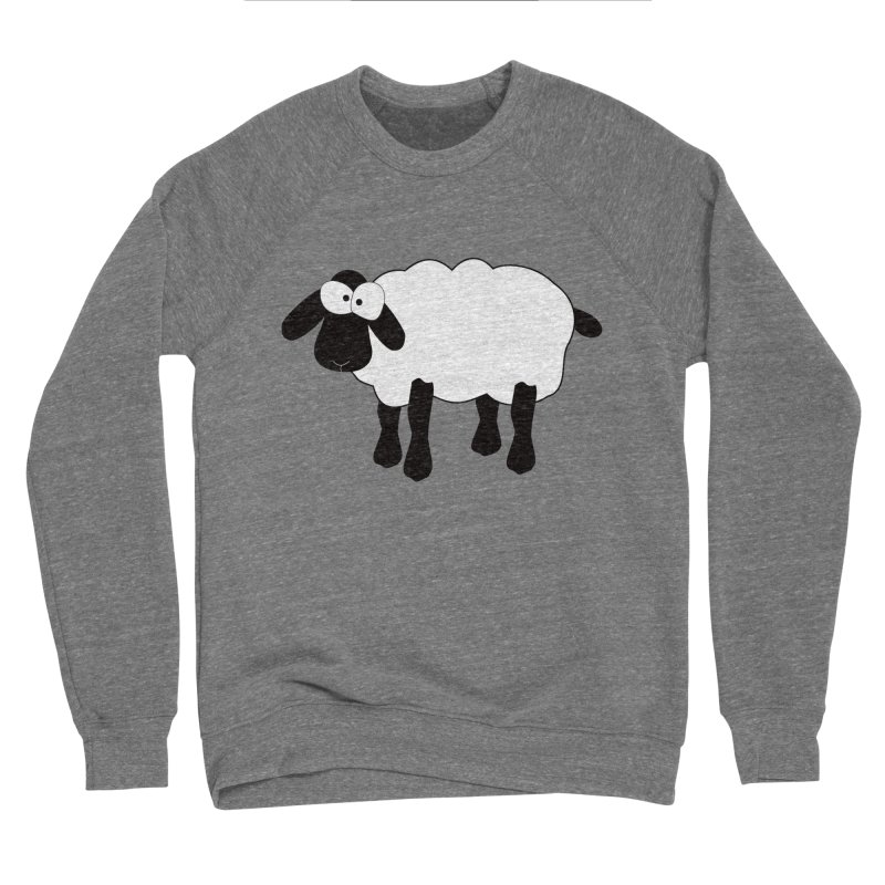 Funny Sheep Men's Sponge Fleece Sweatshirt by buxmontweb's Artist Shop