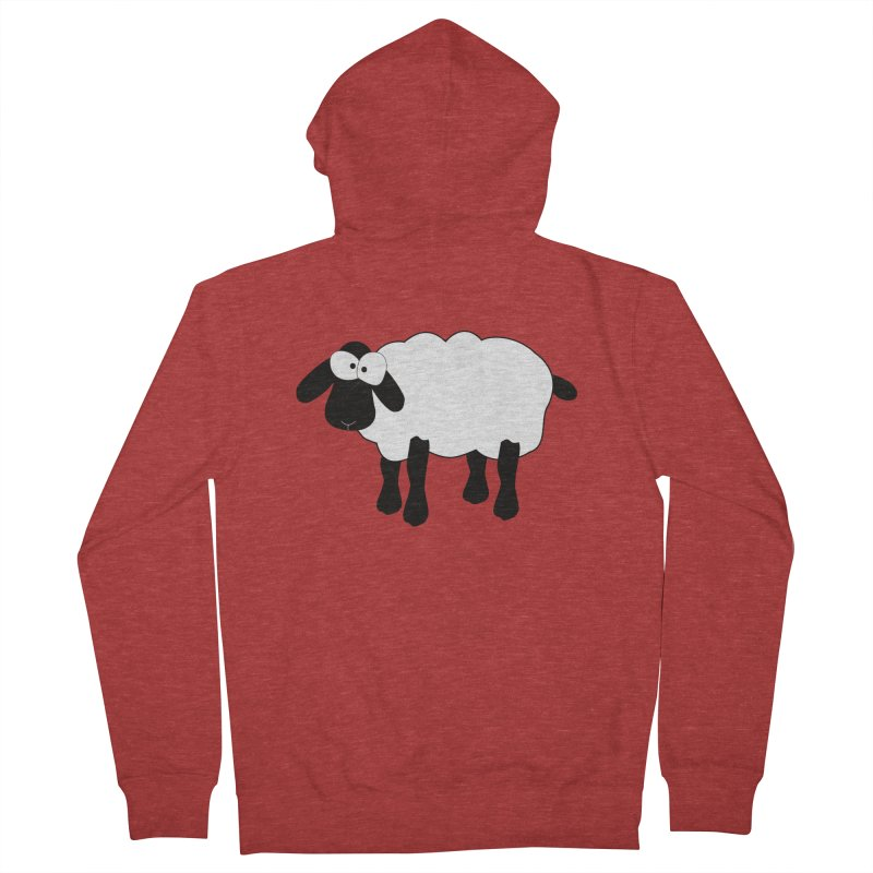 Funny Sheep Women's French Terry Zip-Up Hoody by buxmontweb's Artist Shop