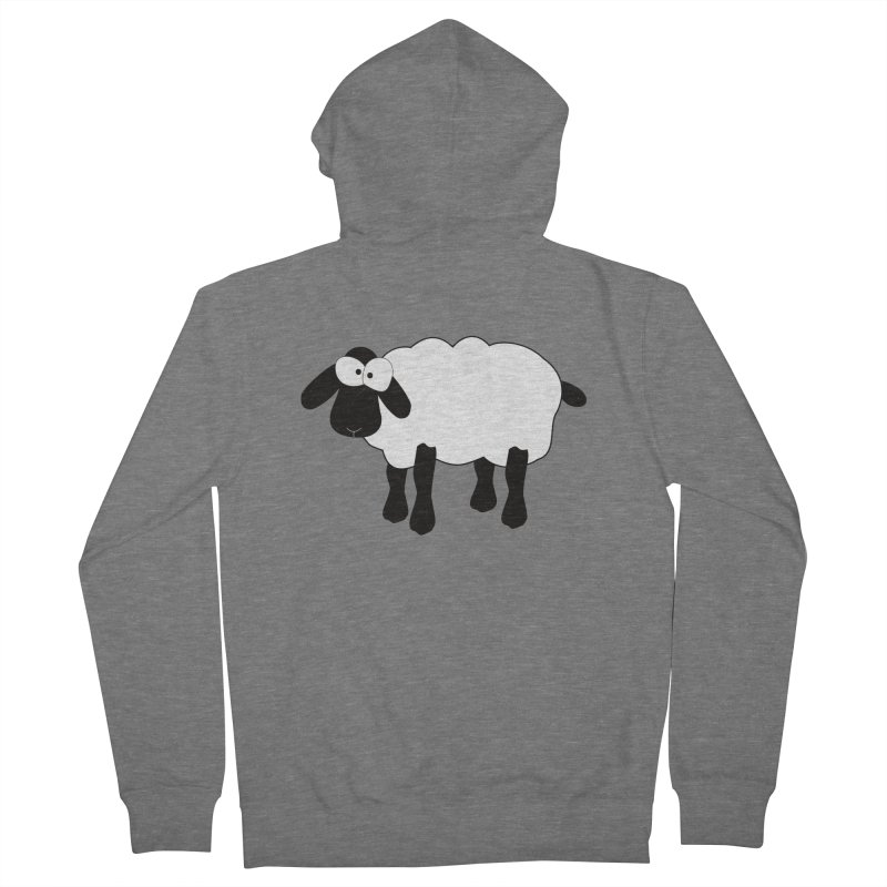Funny Sheep Men's French Terry Zip-Up Hoody by buxmontweb's Artist Shop