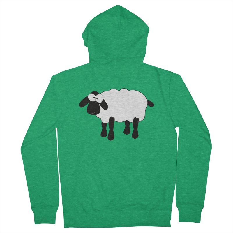Funny Sheep Men's Zip-Up Hoody by buxmontweb's Artist Shop