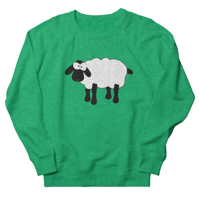 Funny Sheep Women's French Terry Sweatshirt by buxmontweb's Artist Shop