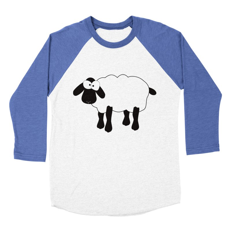 Funny Sheep Women's Baseball Triblend Longsleeve T-Shirt by buxmontweb's Artist Shop