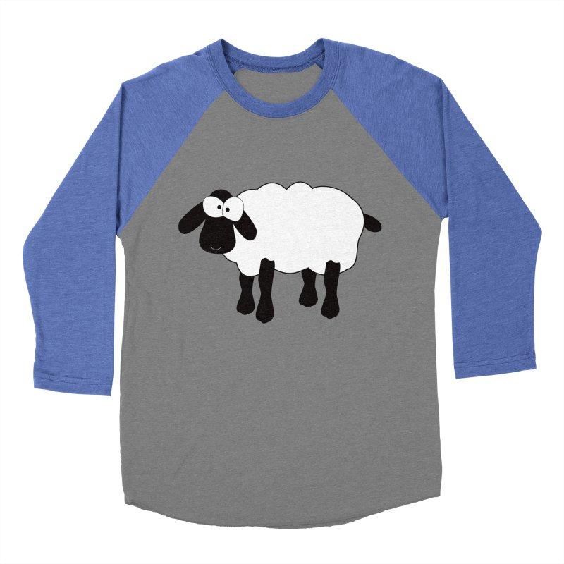 Funny Sheep Women's Baseball Triblend Longsleeve T-Shirt by buxmontweb's Artist Shop