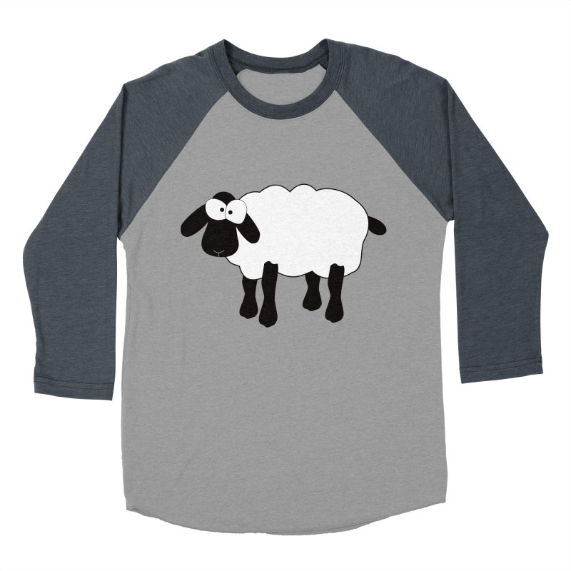 Funny Sheep Men's Baseball Triblend Longsleeve T-Shirt by buxmontweb's Artist Shop