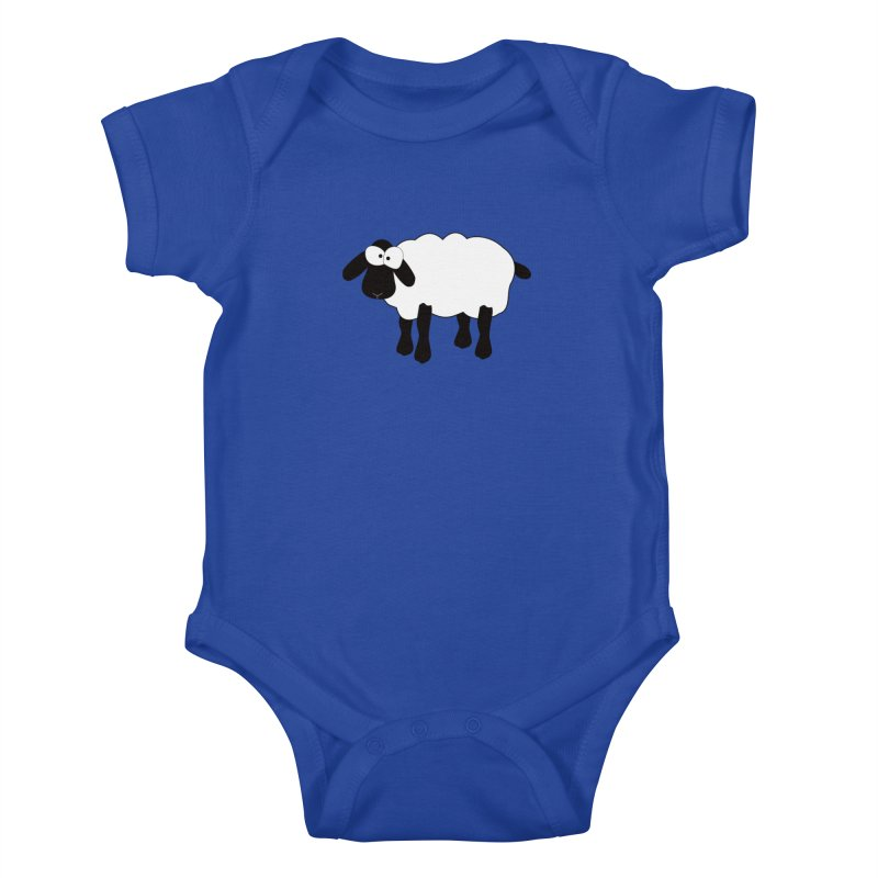 Funny Sheep Kids Baby Bodysuit by buxmontweb's Artist Shop
