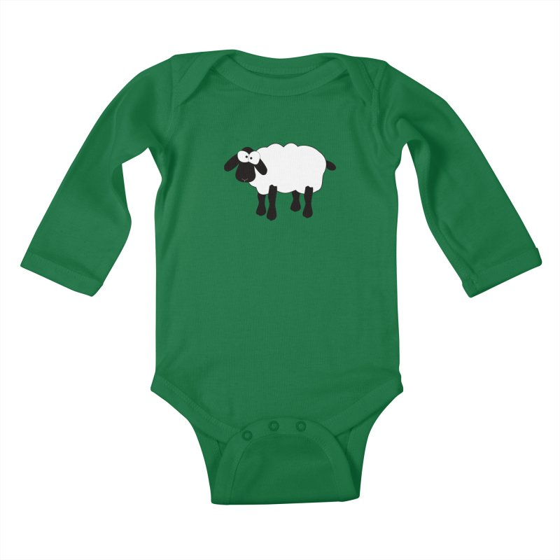 Funny Sheep Kids Baby Longsleeve Bodysuit by buxmontweb's Artist Shop