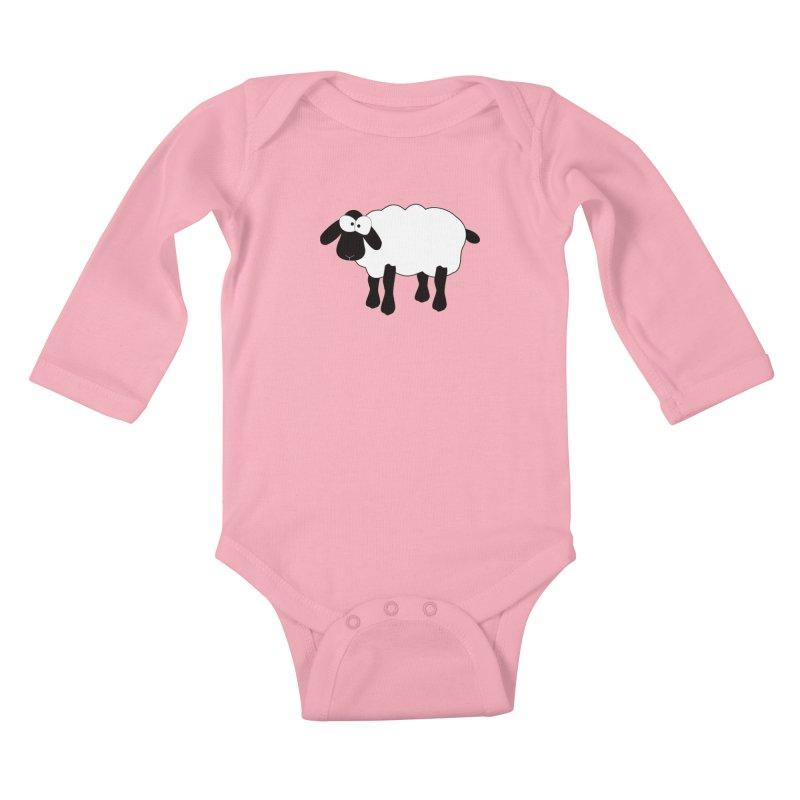 Funny Sheep Kids Baby Longsleeve Bodysuit by buxmontweb's Artist Shop