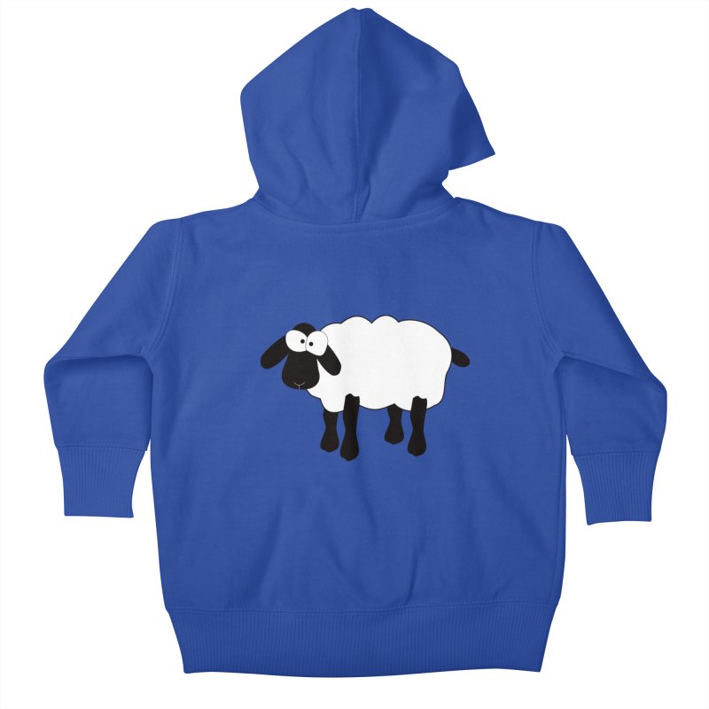 Funny Sheep Kids Baby Zip-Up Hoody by buxmontweb's Artist Shop